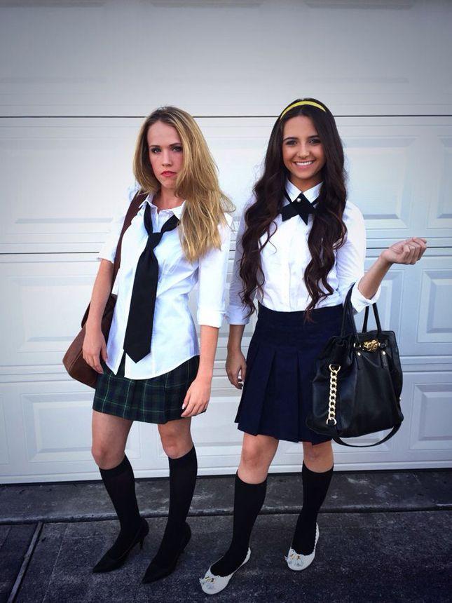 School Girl Halloween Costume College.Disfraces Perfectos Si Tienes Una Amiga Super Loca Costumes Bff