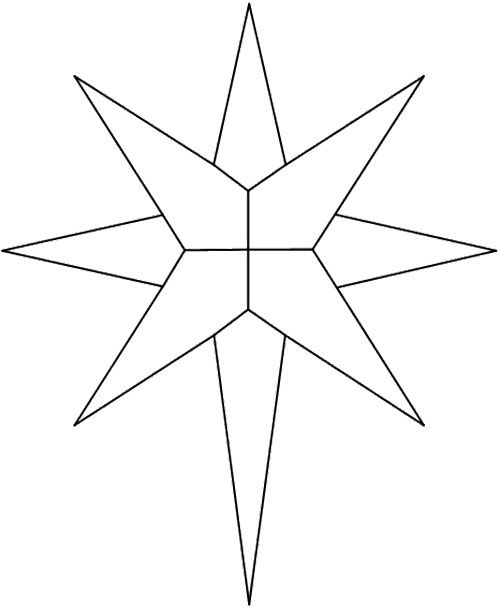 Free Coloring Painting Page Geometric Star Geometric Coloring