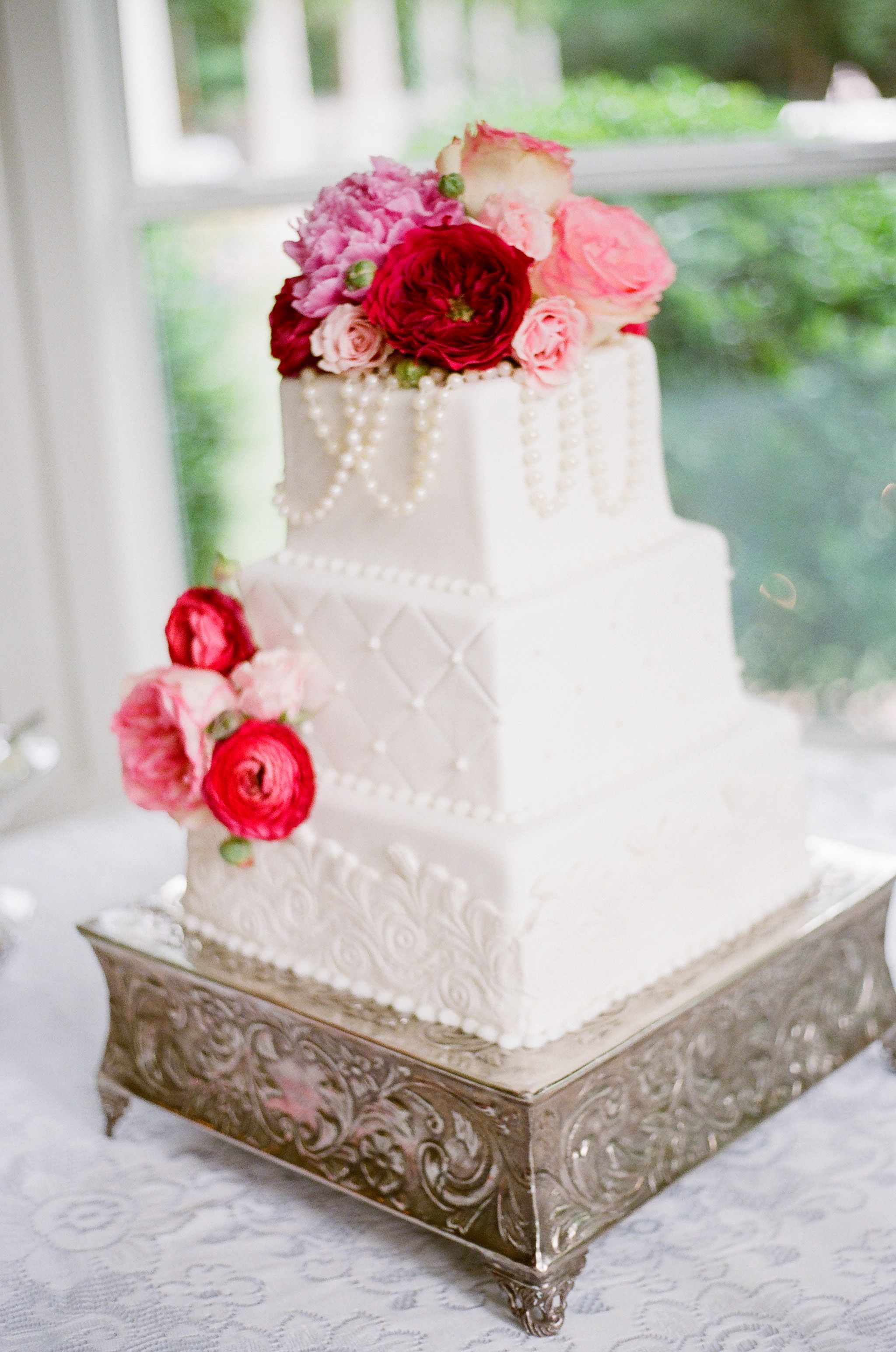 Vintage/Romantic Wedding Cake (Amaretto Flavored) | Our Shabby Chic ...