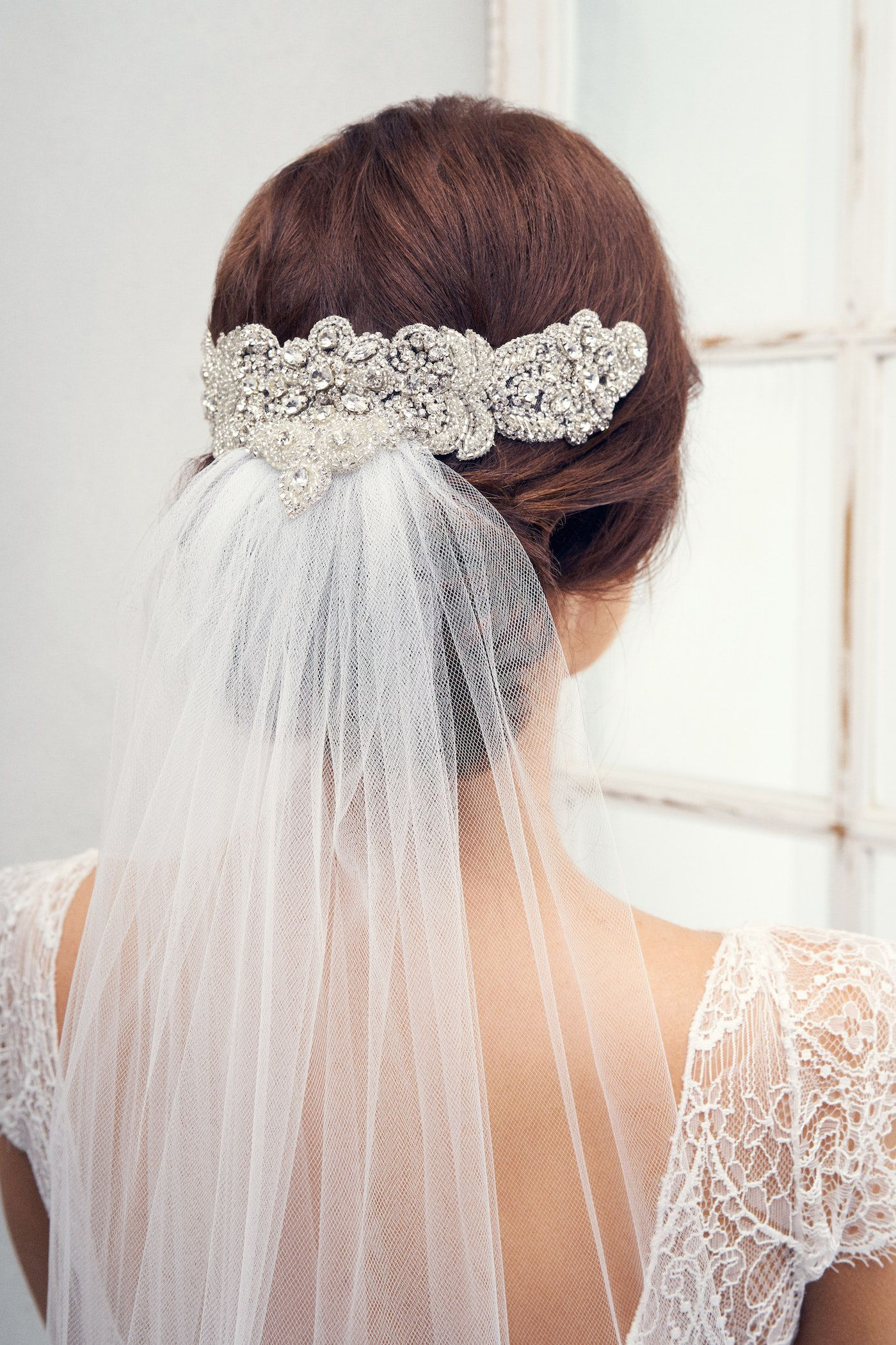 Blossom headpiece and Ashantha veil from the Anna Campbell Eternal ...