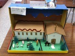 Elementary School Diorama Santa Barbara Mission Shoe Box