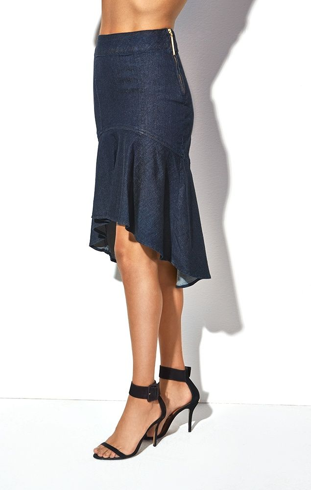 Saia Jeans Sereia | ROUPAS... | Pinterest | Kleidung selber nähen ...