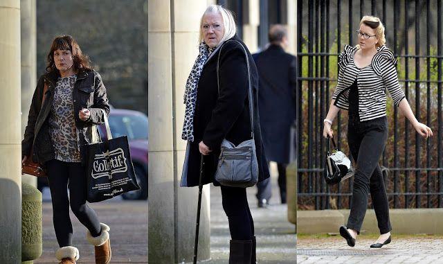 Fraudulent carers Lynda Mynott, Wendy Bell and Lisa Bell