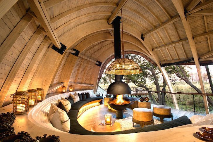 Solar-Powered Safari Lodge Located in Botswana, Africa
