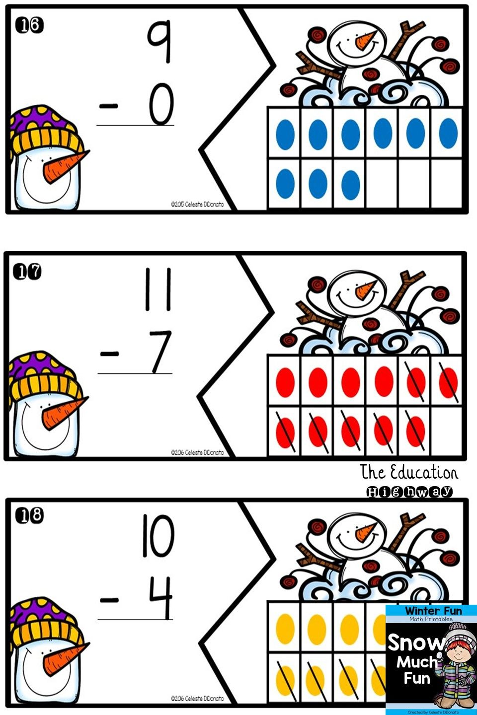 Winter Math Worksheets and Centers   Pinterest