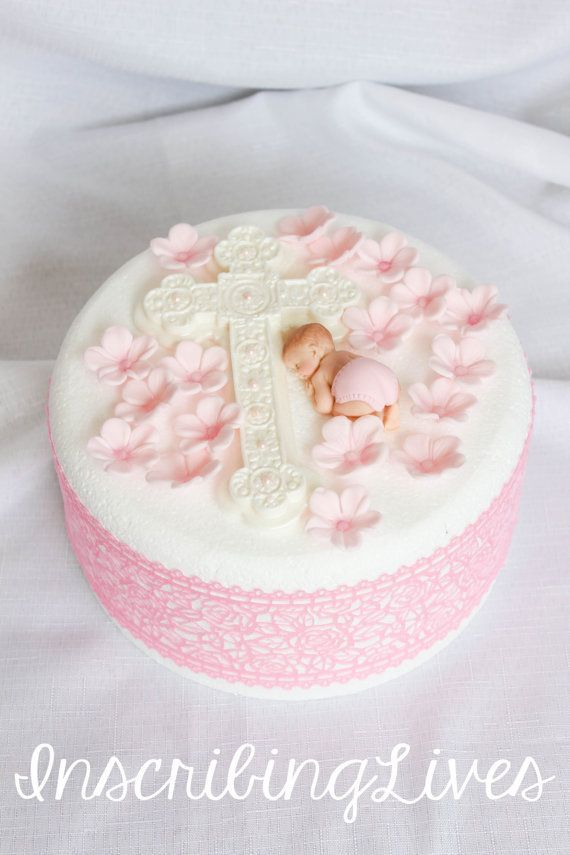 Baptism cake topper girl 20pcs baptism edible decorations pink fondant flowers cross pink flower diaper baby shower girl large 3D figure#20pcs #baby #baptism #cake #cross #decorations #diaper #edible #figure #flower #flowers #fondant #girl #large #pink #shower #topper