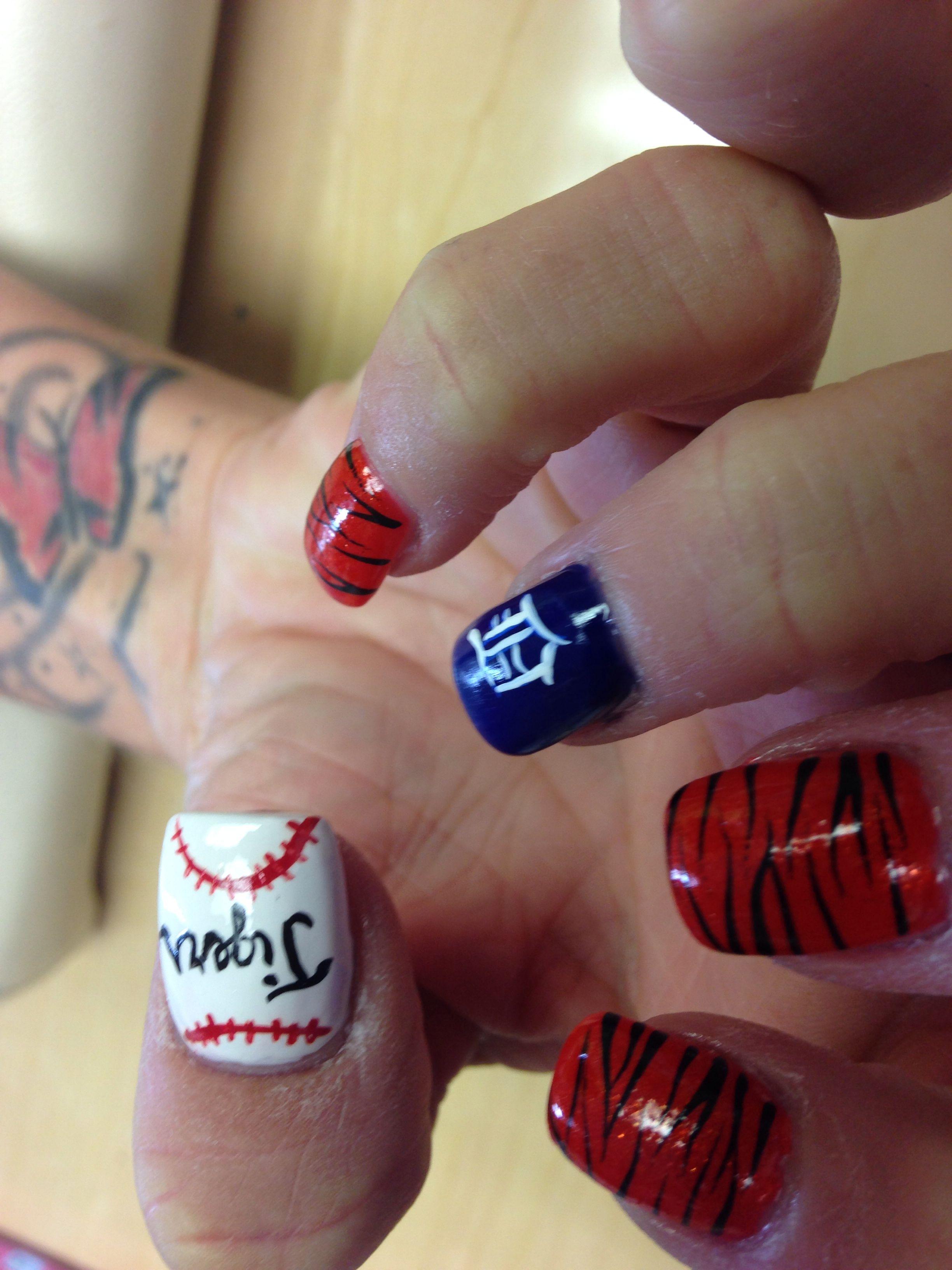 Bonito Detroit Tigres Diseños De Uñas Imagen - Ideas Para Pintar ...