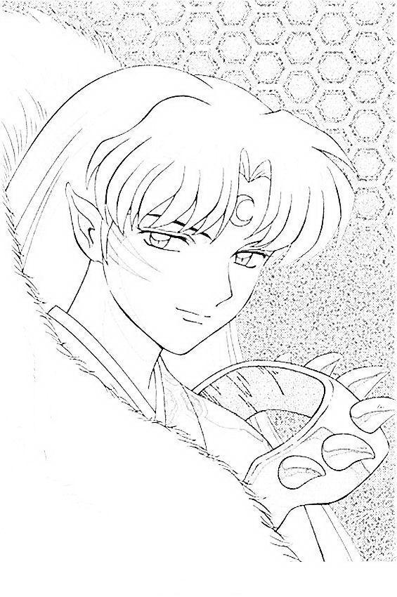 Inuyasha Fargelegging Tegninger 2 Anime Character Drawing Anime Lineart Inuyasha Fan Art