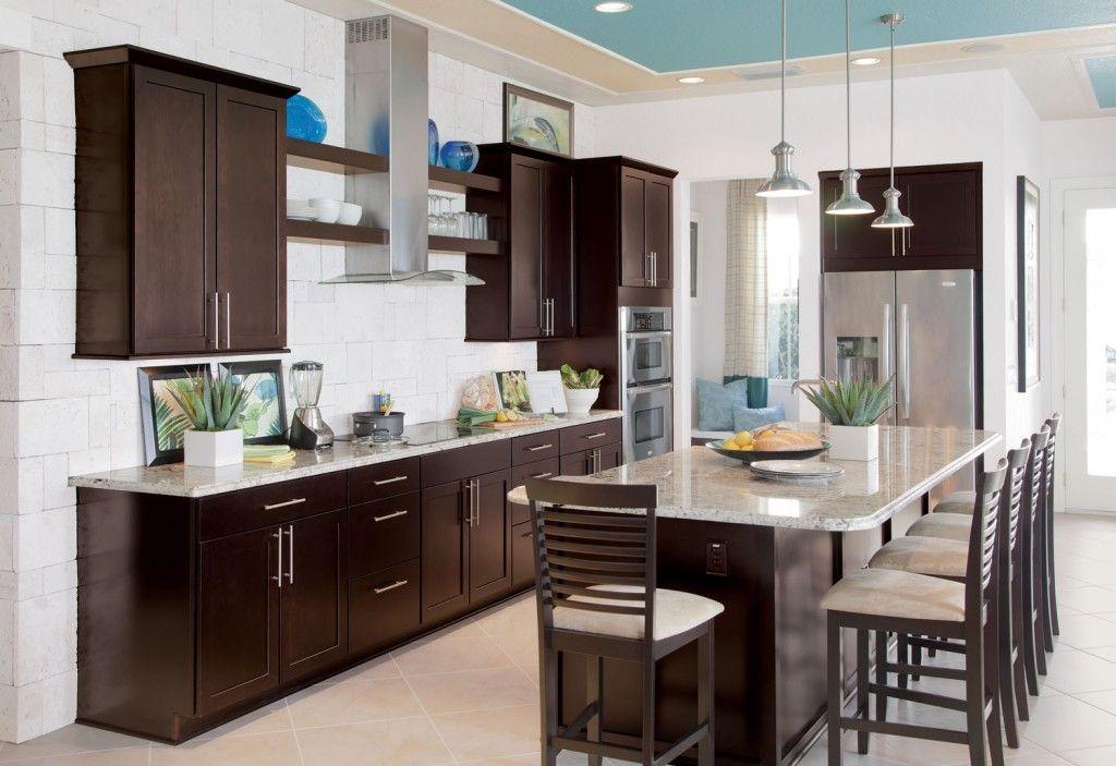 cocina marron20 | Arquitectura moderna y decoracion | Pinterest