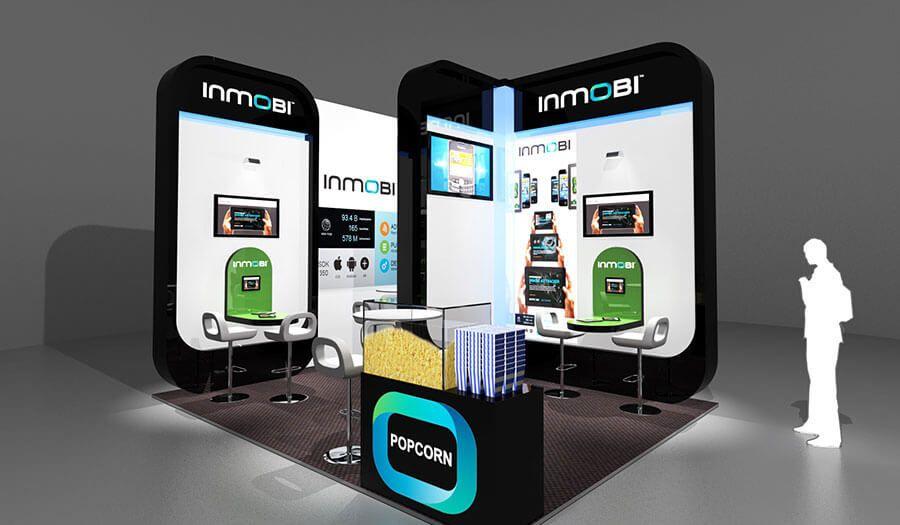 Modern Exhibition Stall Design : 4 x 3 exhibition stand design for inmobi exhibition stand design