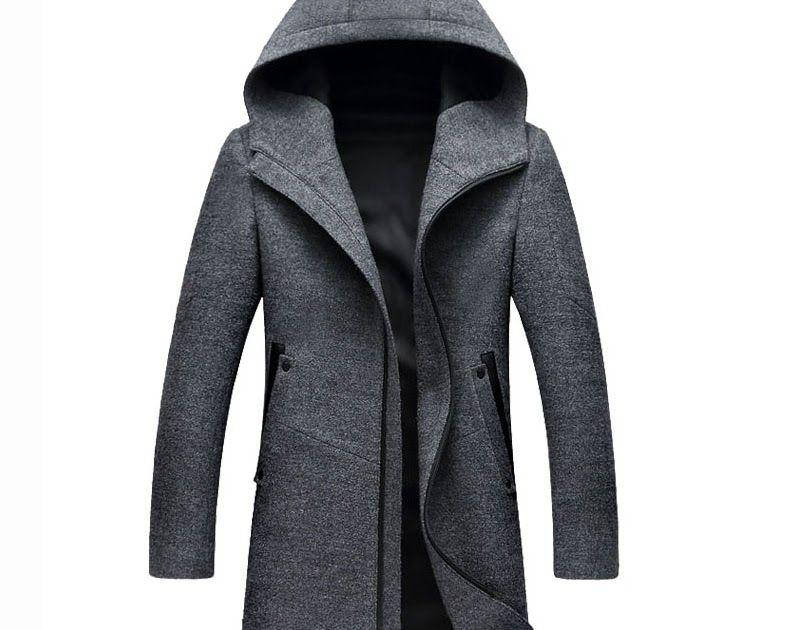 332212b724a Big Discount Letskeep Hooded Parka Men Coats Winter Zipper Long trench coat    Blends Peacoat Mens Business Woolen Long Overcoats MA436  fashion   menfashion