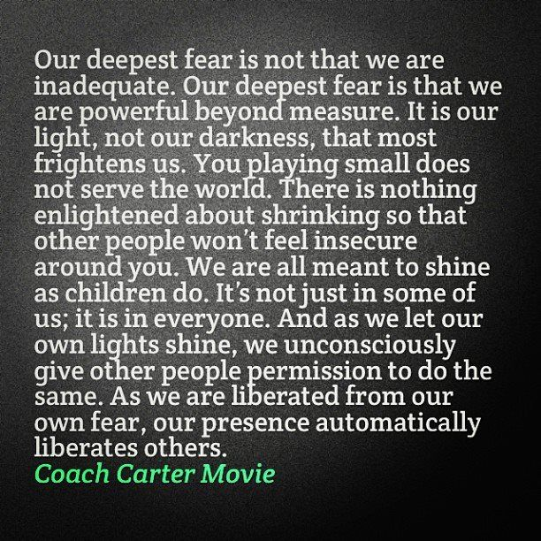 Coach Carter Quotes | Coach Carter Quote Say It Coach Carter Quotes Inspirational