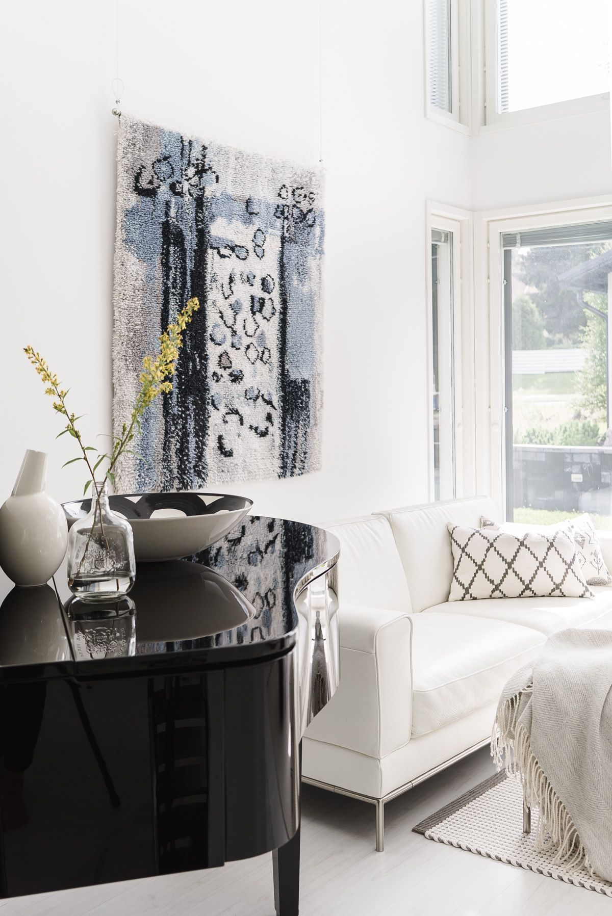 modern wall rug, ryijy | lisbet e.