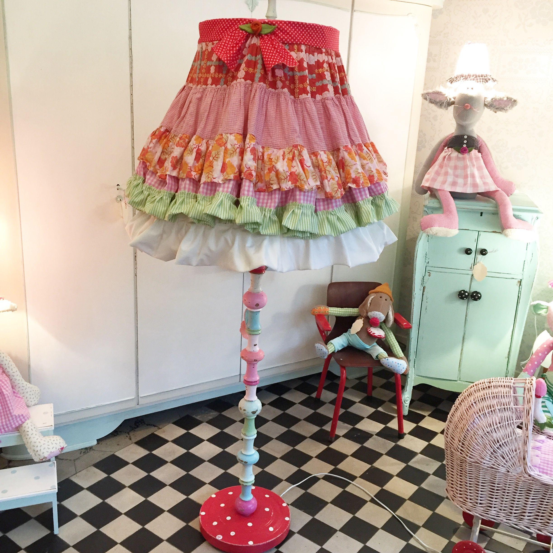 Stehlampe, Kinderzimmer , Lampe , Kinderlampe , Herzenstreu, Einrichten,  Shabby Chic , Vintage