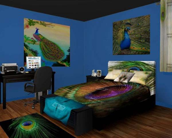 peacock bedroom peacock bedroom decor for the extravagant 12812 | 1254f75ff0c9531082d4a3e0f153d436