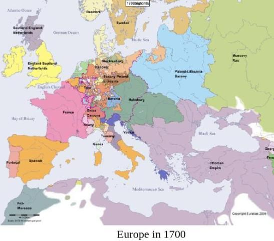 Map Of Europe 1700 The World Historical Maps Roman Empire Map Map