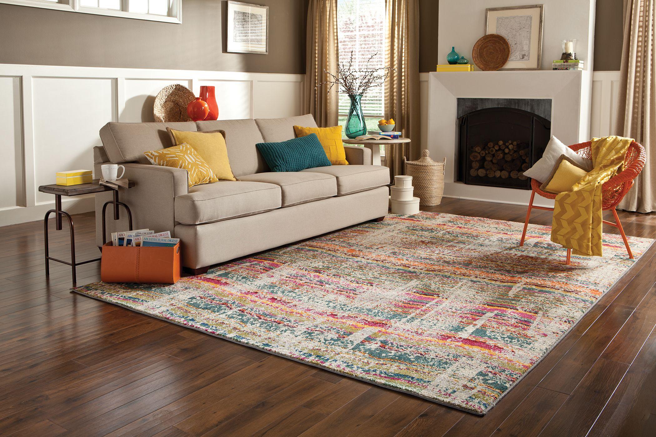 Kaleidoscope 5992f Multi Grey Rug Living Room Carpet Rugs In