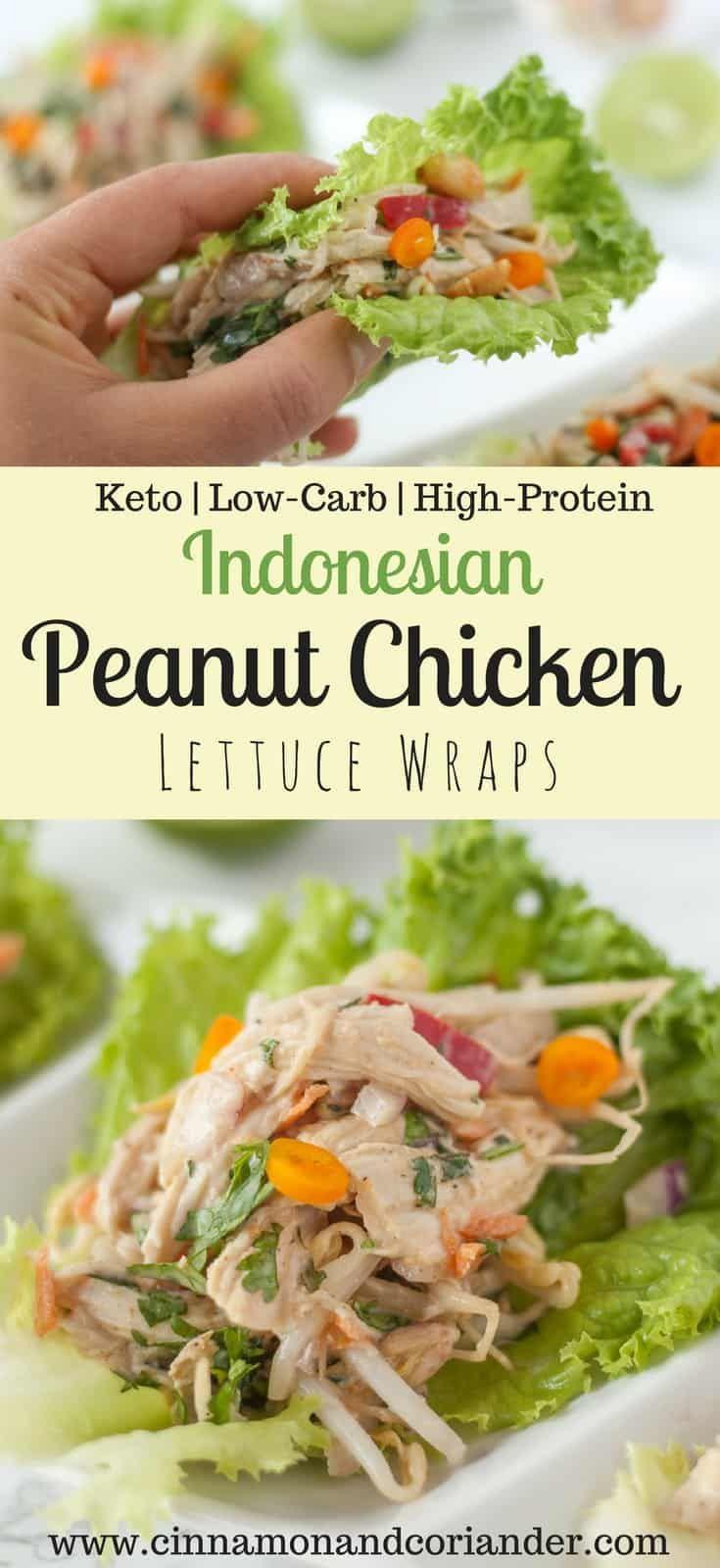 Peanut Chicken Lettuce Wraps Recipe | Keto and Paleo Indonesian Peanut Chicken Lettuce Wraps | Keto & Low-Carb RecipeIndonesian Peanut Chicken Lettuce Wraps | Keto & Low-Carb Recipe