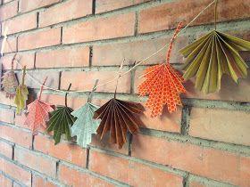 De puntadas y otros enredos: Tutorial express: Guirnalda de hojas de otoño