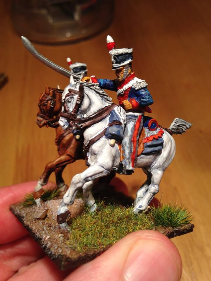 Napoleonic British Light Dragoons [28mm Perry] and painting
