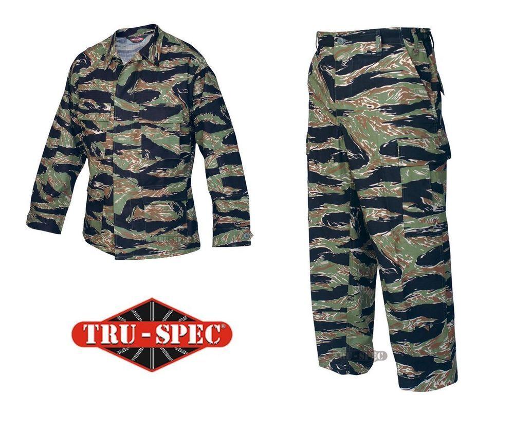 920893193ac30 Vietnam Tiger Stripe Shirt Pants BDU Uniform Set Tru-Spec 100% Cotton  Ripstop #TruSpec