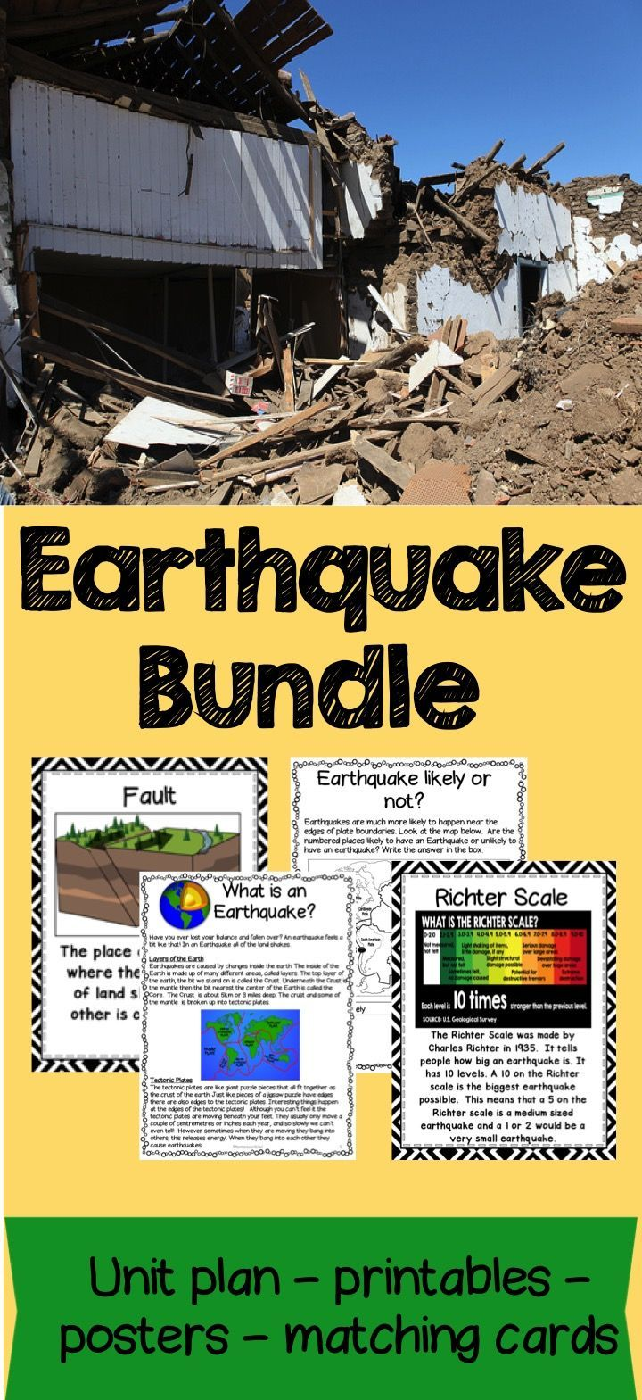 worksheet Free Printable Earthquake Worksheets earthquake bundle lesson plans activities worksheets teaching and printables 68 pages ready to use