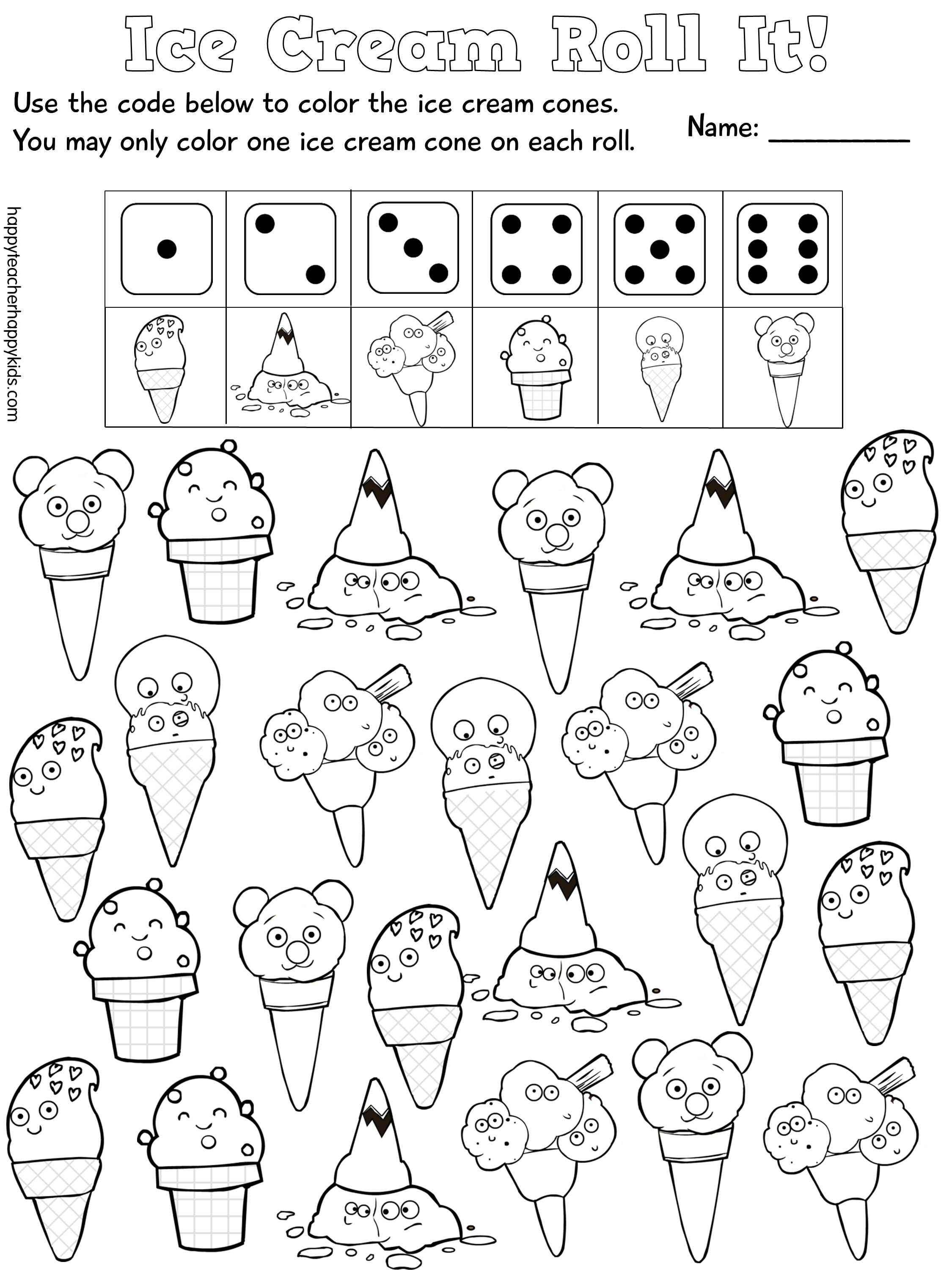 Back to School Ice Cream Fun with Names | Pinterest | Maths, Pre ...