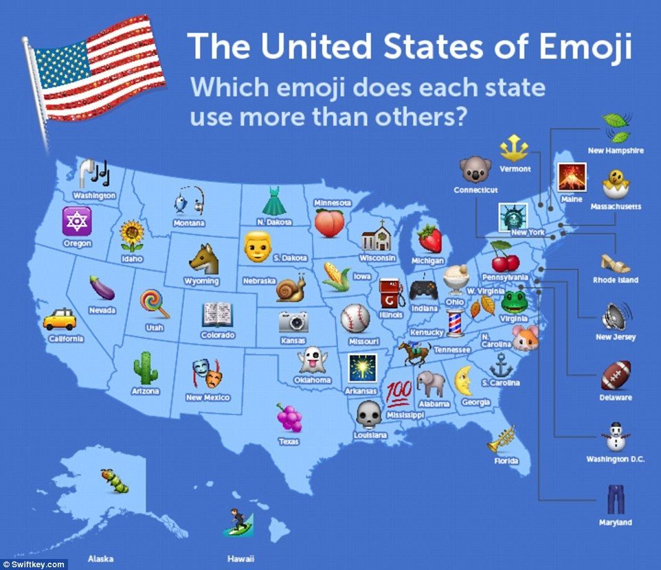 Smart Keyboard Firm Swiftkey Analysed A Billion Emoji From Its Users - Us-keyboard-map