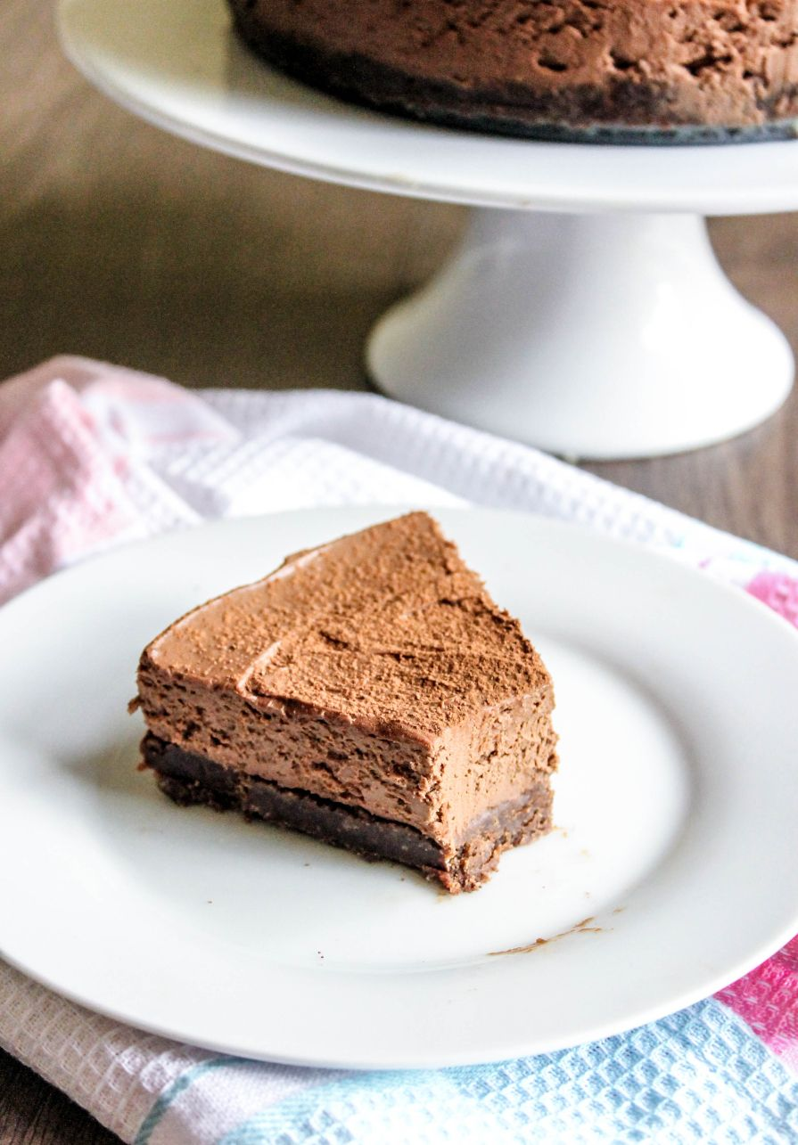 No bake dark chocolate mascarpone cheesecake