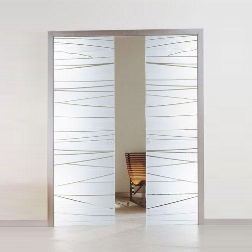 Porte interne in legno spazzolato architecture design - Porte interne scorrevoli vetro ...