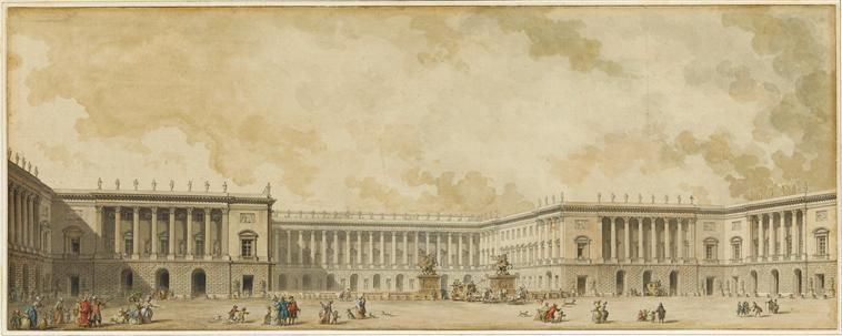 Diseno Para La Reconstruccion Del Palacio De Versalles Alrededor