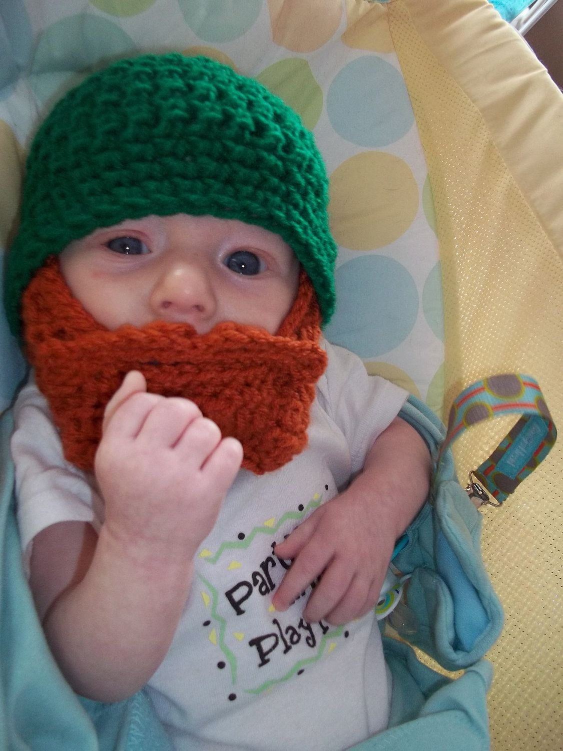 St Patrick s Day Baby Beard Beanie This is adorable!!!  2f662461bcb0