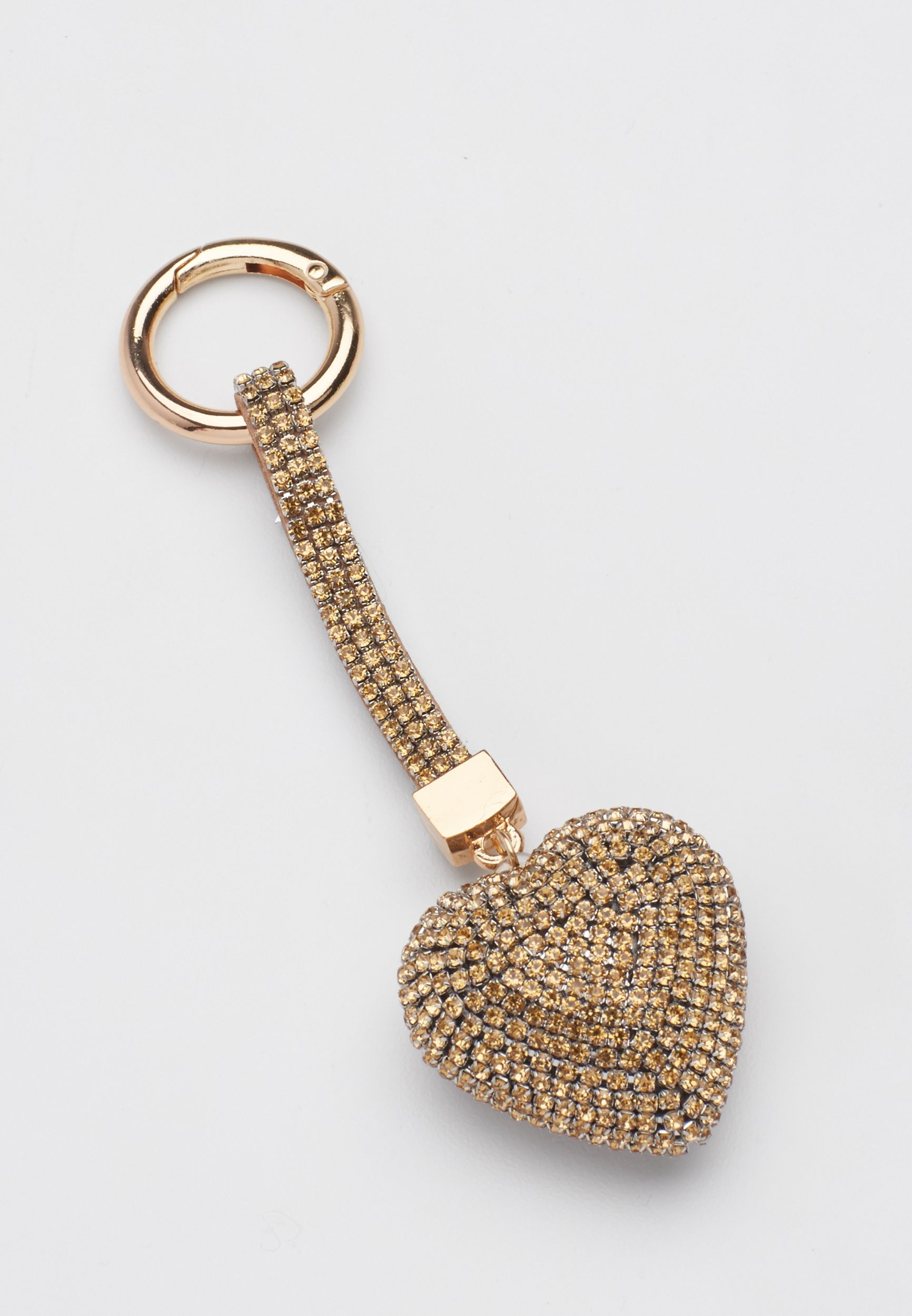 rhinestone heart handbag charm in champagne (original price, $10.00) available at #Maurices