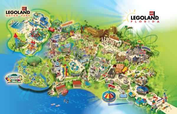 Map Of Legoland Florida OrlandoTastic: LEGOLAND offers free admission for active military