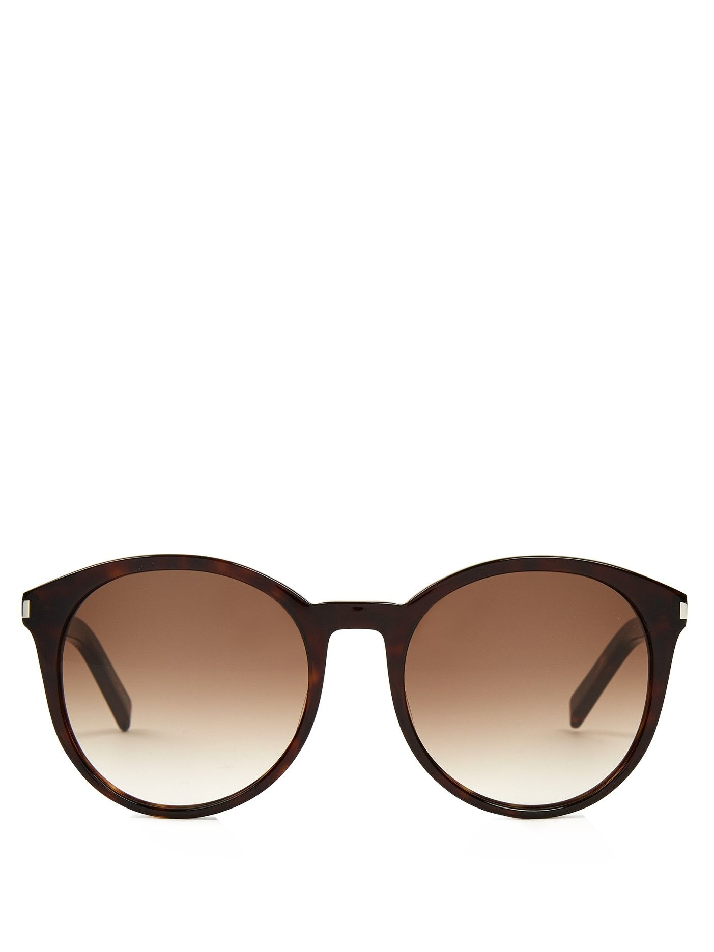 Oversized roundframe acetate sunglasses Saint Laurent