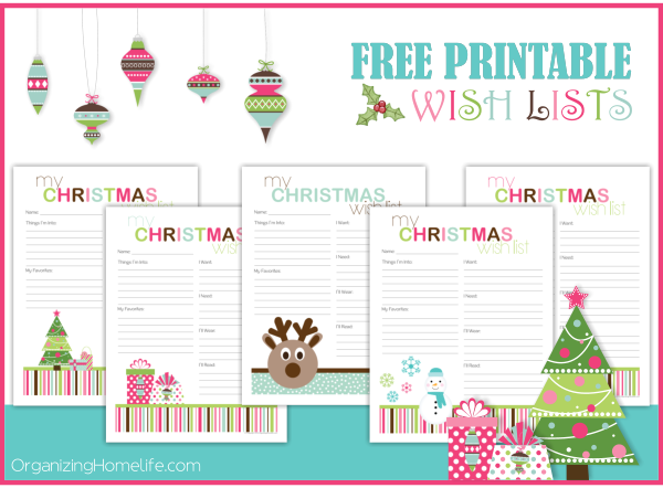Printable Santa Wish List Brilliant Free Printable Christmas Wish Lists  Free Printable Organizing And .