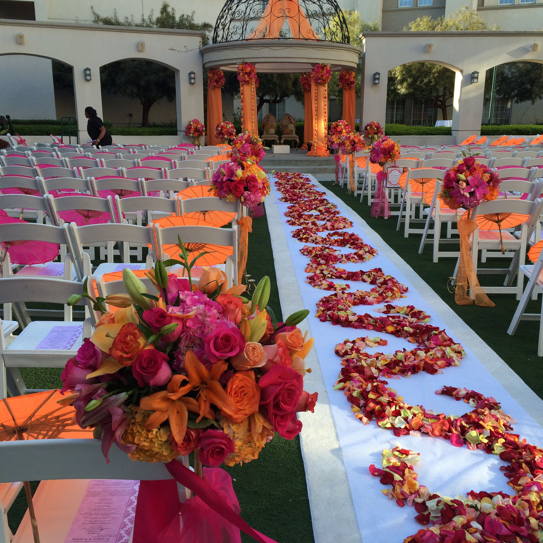 Www Weddingstoryz Com Indian Weddings Indian Bride Desi Dulha Dulhan Bright Color Indian Wedding Decorations Wedding Aisle Decorations Wedding Isle Decorations