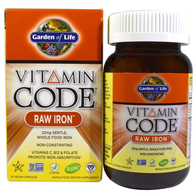 Garden of Life, ビタミン コード, ロー アイロン, 30 UltraZorbe ビーガン カプセル