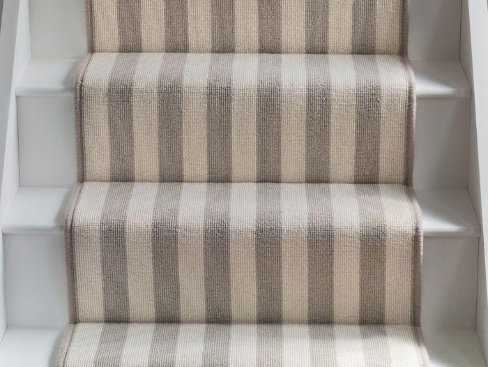 Wool Bloc Stripe Bone Olive Bloc · Stair Carpet ...