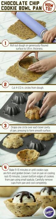 Eisschale mit einer Muffinform