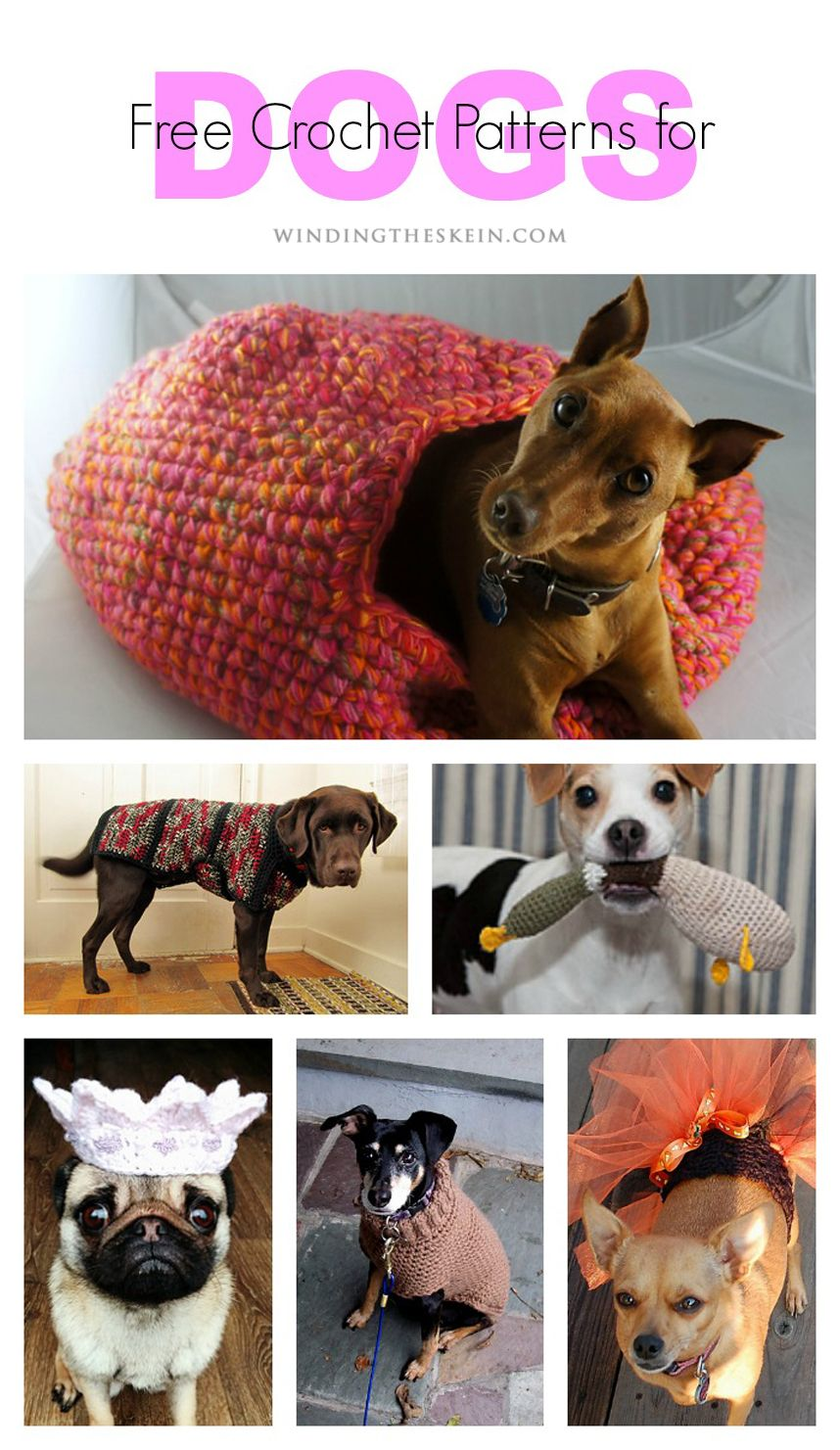 23 Free Crochet Patterns for Household Pets - Winding the Skein ...