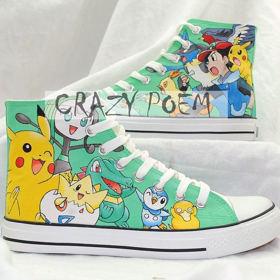 Custom Pikachu Hand Painted Shoes Poket Monsters High Top