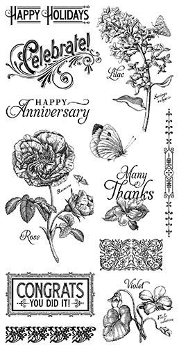 Cling Stamp G45 Time to Flourish 2