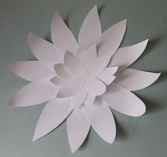 Small White Paper Flower with Pointed Petals by LizzyandLeslie, $5.00