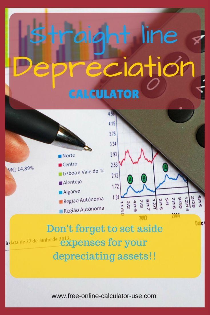 straight line depreciation calculator with printable schedule