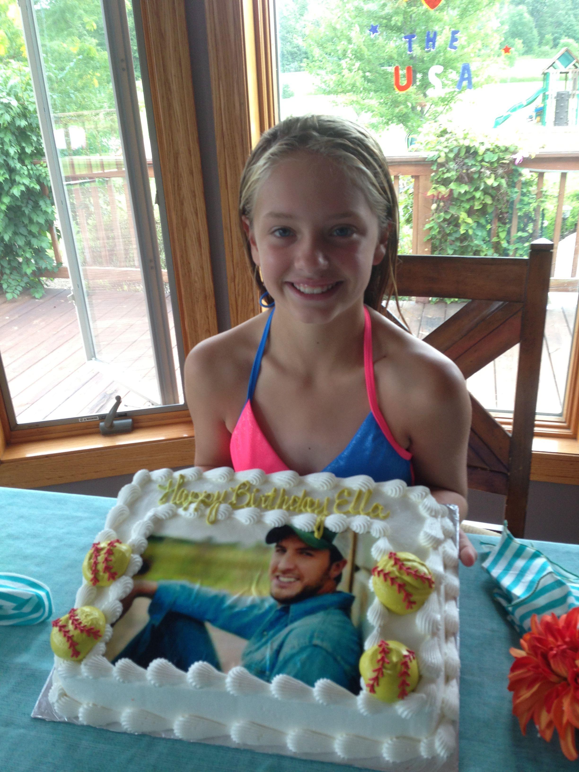 Luke Bryan And Softball Cake Luke Bryan Pinterest Luke Bryans