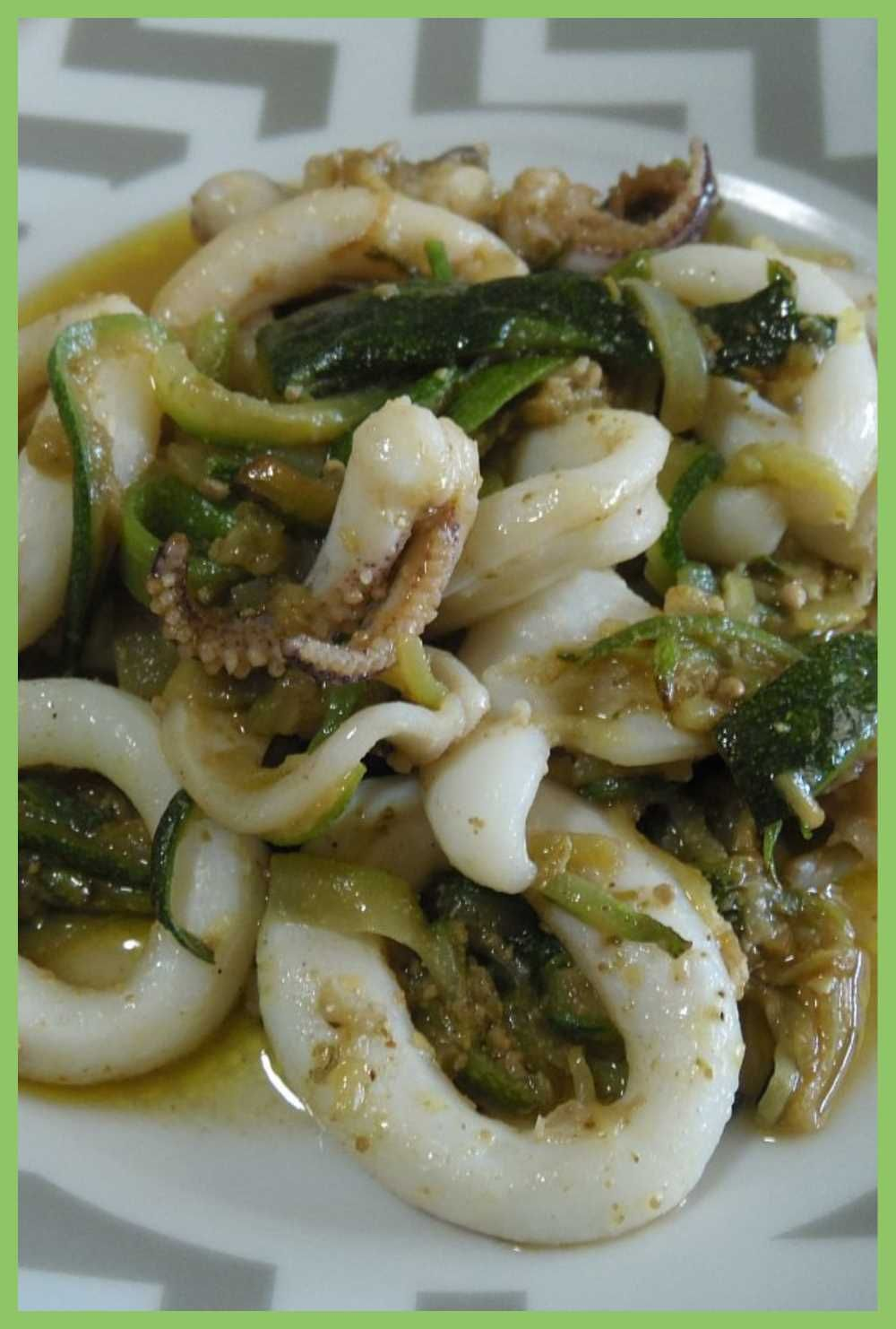 Photo of CALAMARI WITH ZUCCHINI AND PESTO, the appetizing recipe!
