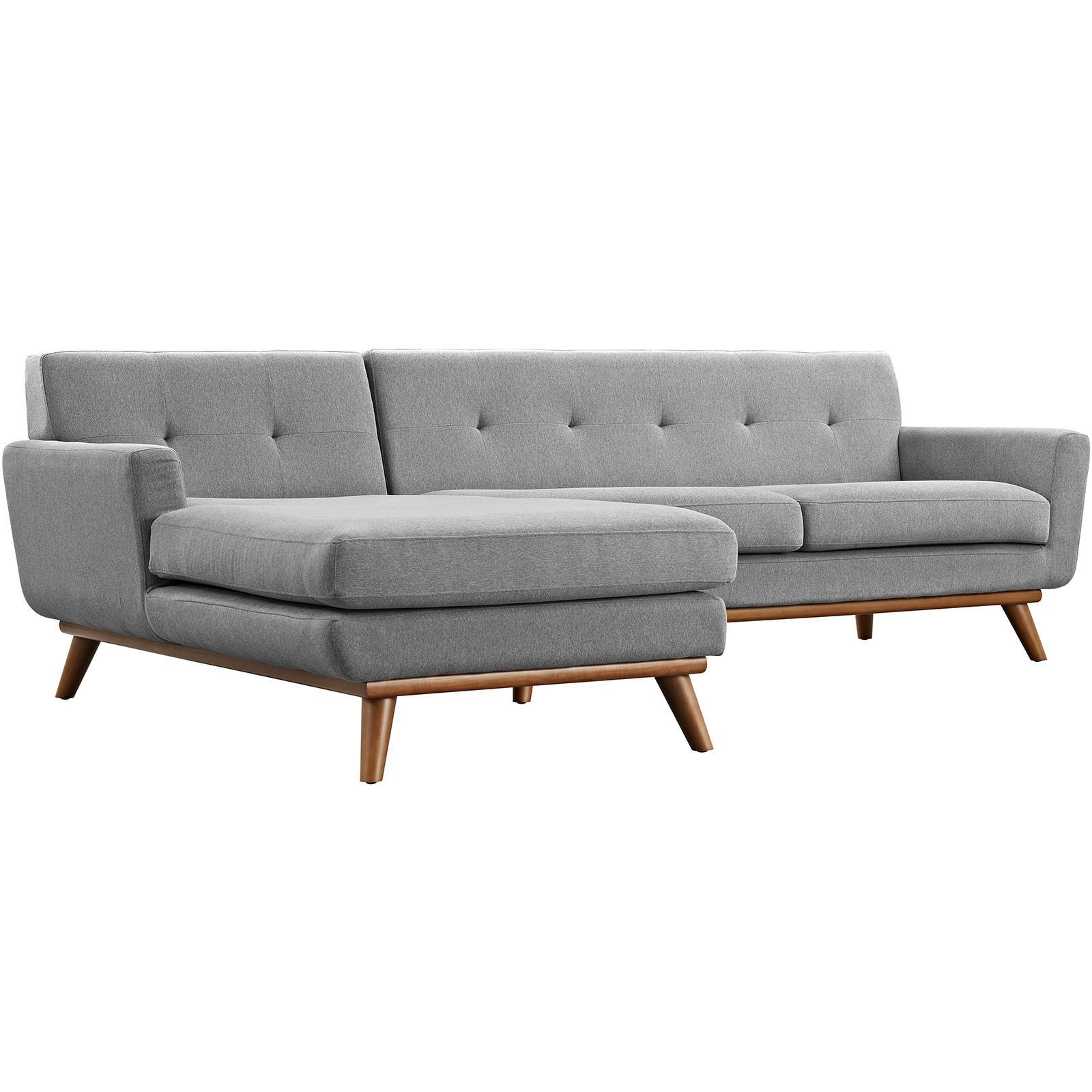 Engage Left Facing Sectional Sofa Expectation Gray In