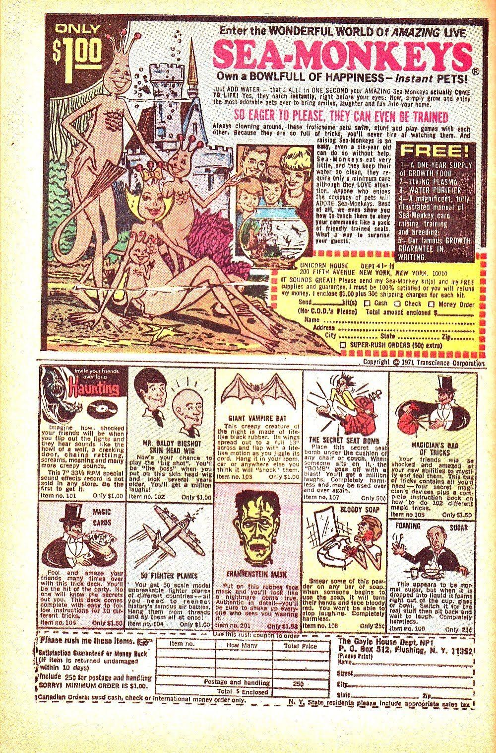 Sea Monkeys Vintage Comic Books Vintage Comics Classic Comic Books