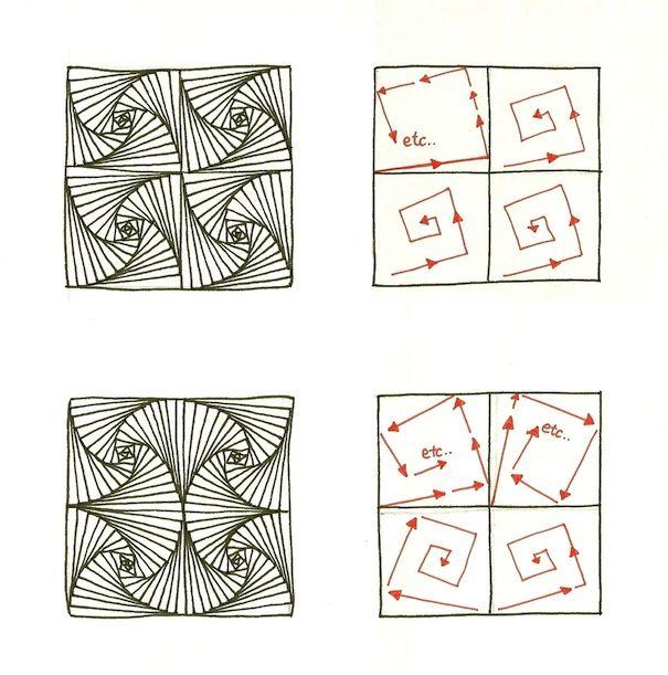 Zentangle zentangle hand drawn art zentangle for Doodle tutorial